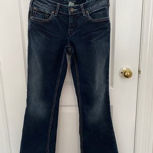 Silver Boot Cut/flare Jeans 👖